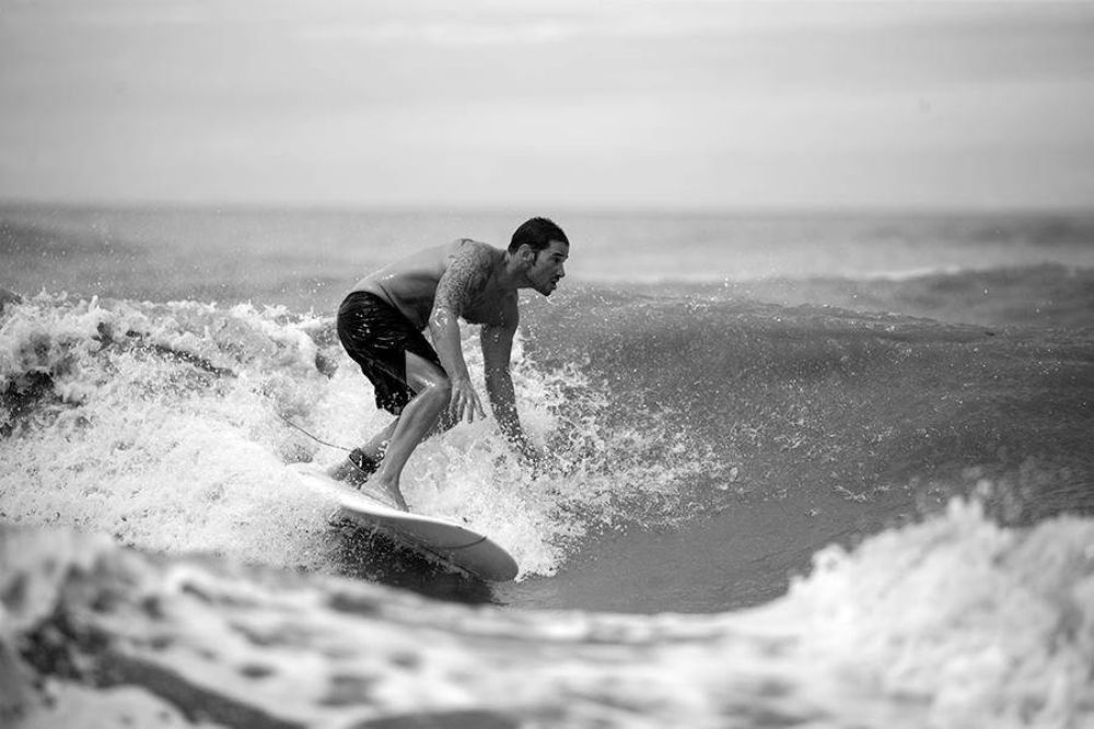 Photo in Sports #brother #hermano #surf #longboard #surfing #buenos aires #b&w