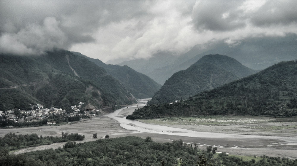 Photo in Random #landscape #river #beauty #clouds #mountains #black and white #trees #view #adventure #tracking