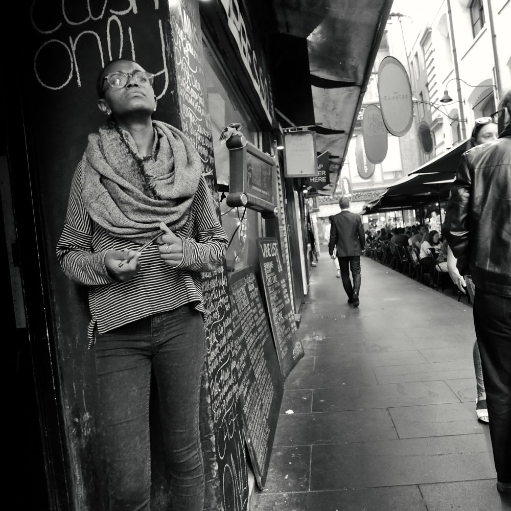 Photo in Street Photography #street #black & white #woman #melbourne