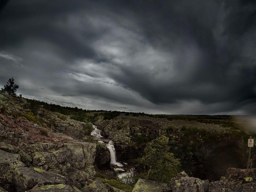 Photo in Nature #storm #rain #mountain #waterfall #vattenfall #fjäll #njupeskär #nature #natur