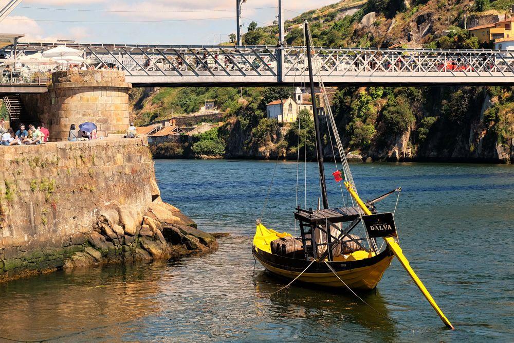 Photo in Random #boat #yellow #port #bridge #color #water