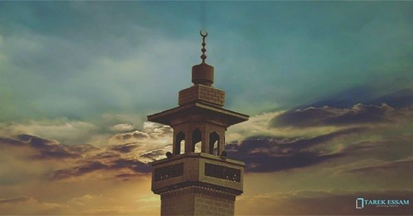 Photo in Random #egypt #mosque #sunrise #sun