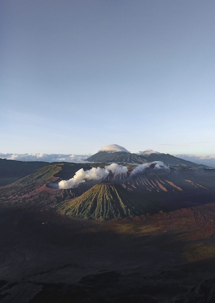 Photo in Aerial #landscape #sunrise #volcano #nature #travel #done #aerial #photography #international #indonesia #mount bromo #wyld and alive #wilderness #view