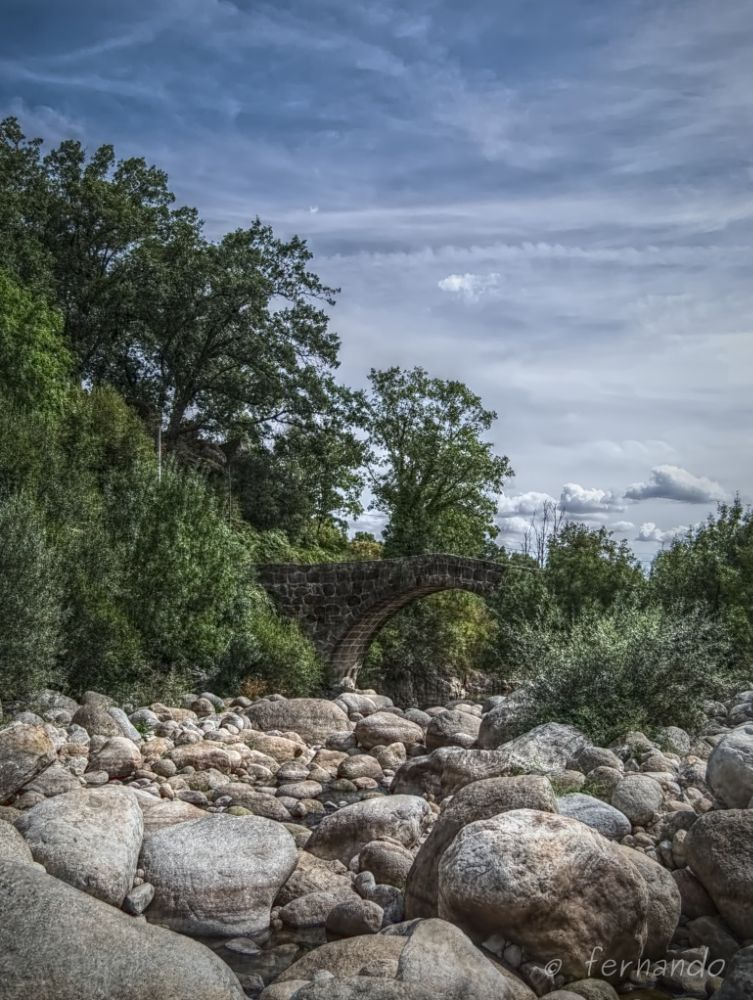 Photo in Landscape #puente #jaranda #gargantas #bridge #hdr