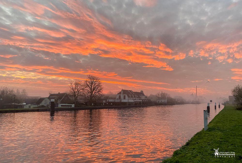 Photo in Landscape #amsterdamned #sun #sunrise #river #zweth #aan de zweth #holland #netherlands #zuid holland #schipluiden #restaurant #delftse schie #michelin star #landscape #dutch landscape