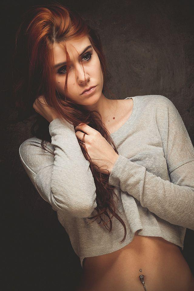 Photo in Portrait #portrait #fashion #woman #young #girl #cute #redhair #studio