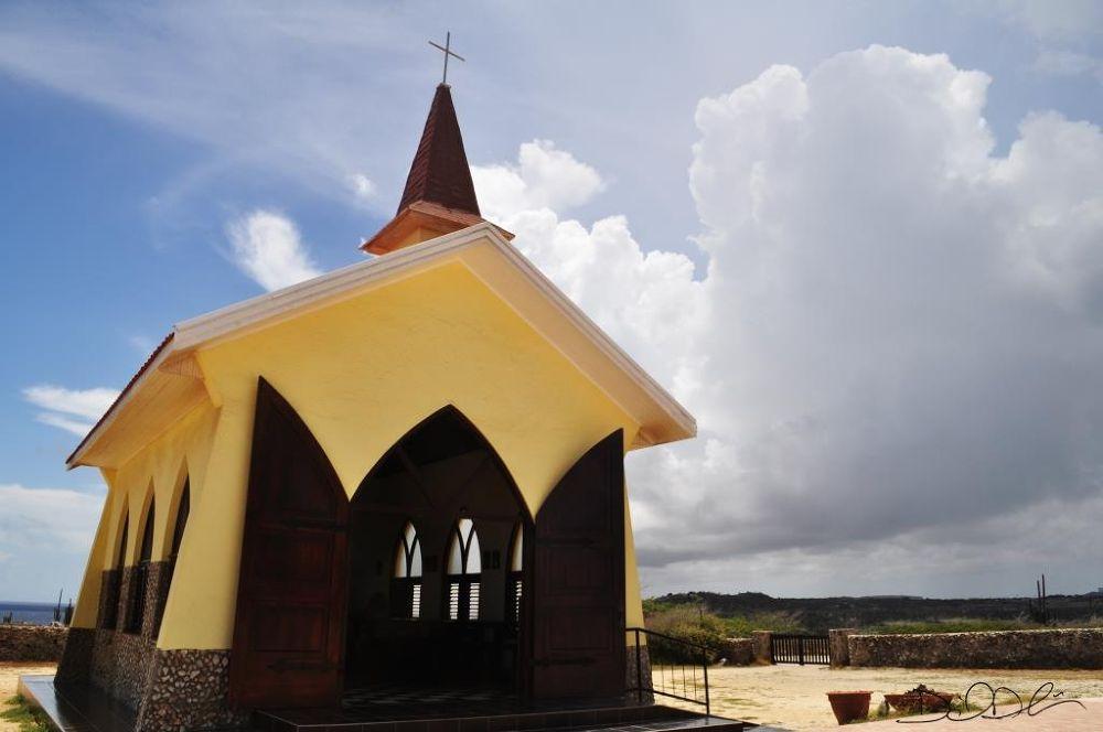 Photo in Architecture #chapel #aruba #sky