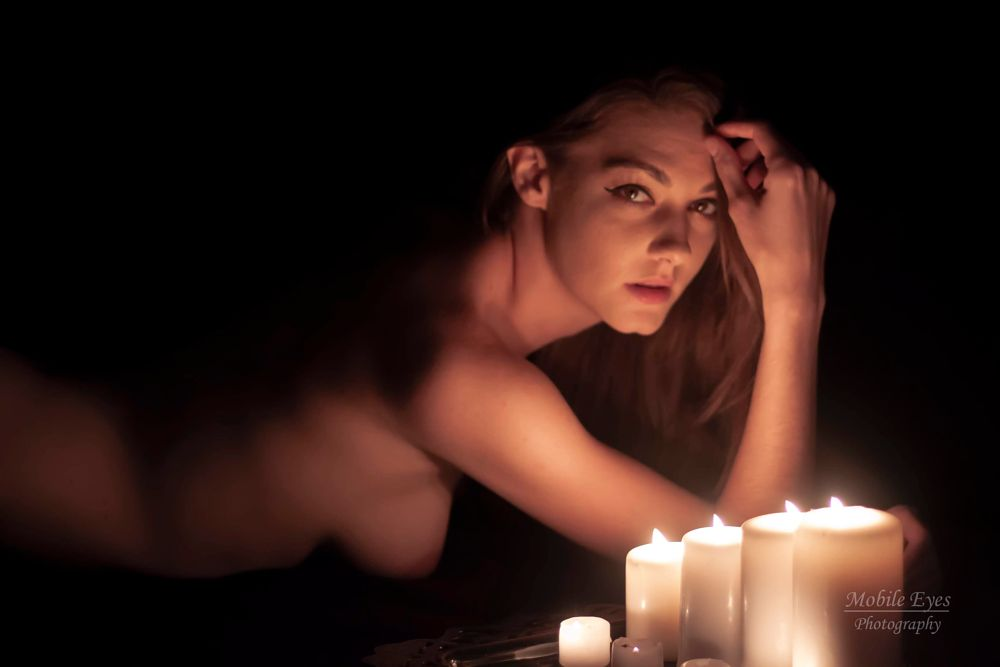 Photo in People #lowlight #candlelight #nude