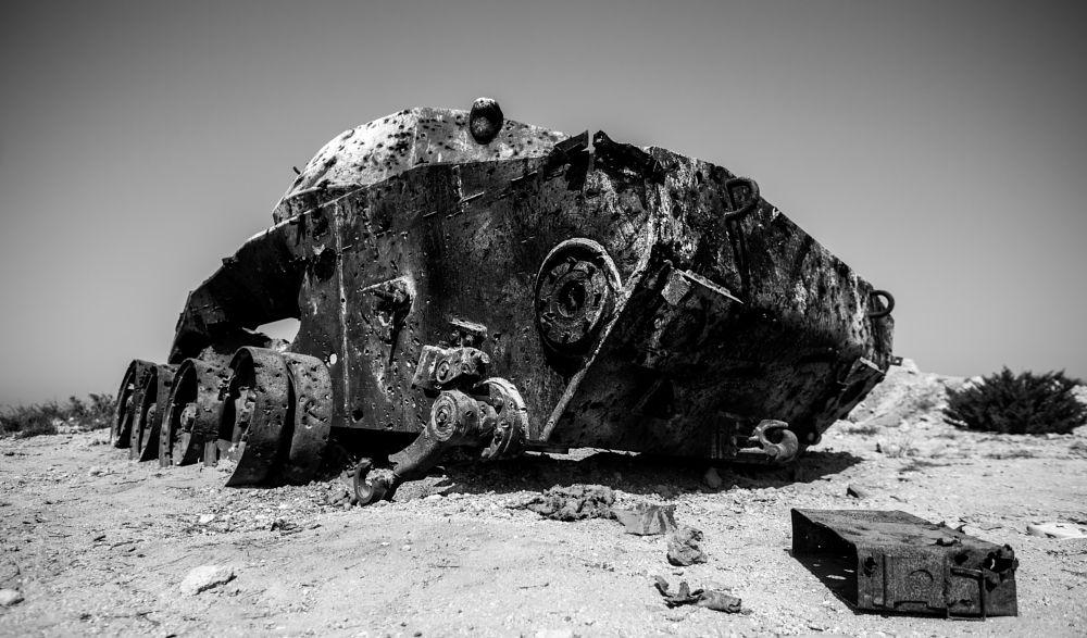 Photo in Architecture #tank old military sand greece #tank #old #military #wanderlust #reiselust #sand #holiday #kos #greece #island #kos island #ak #akphotography #white #black #black and white #bw