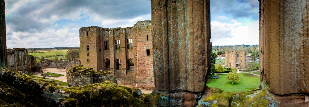 Photo in Landscape #castle #panorama #cloudy #window #derelict #ruin #old