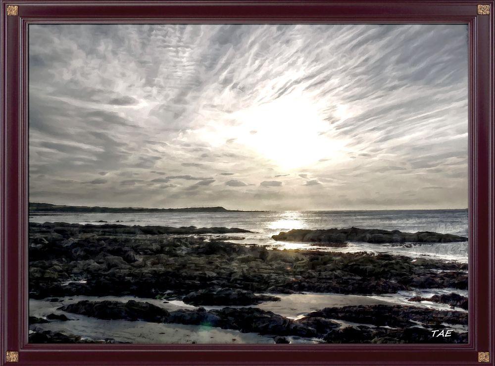 Photo in Random #art #oil #painting #st #sea #shore #sunset #digital #evening #scotland #sand #fine #canvas #andrews