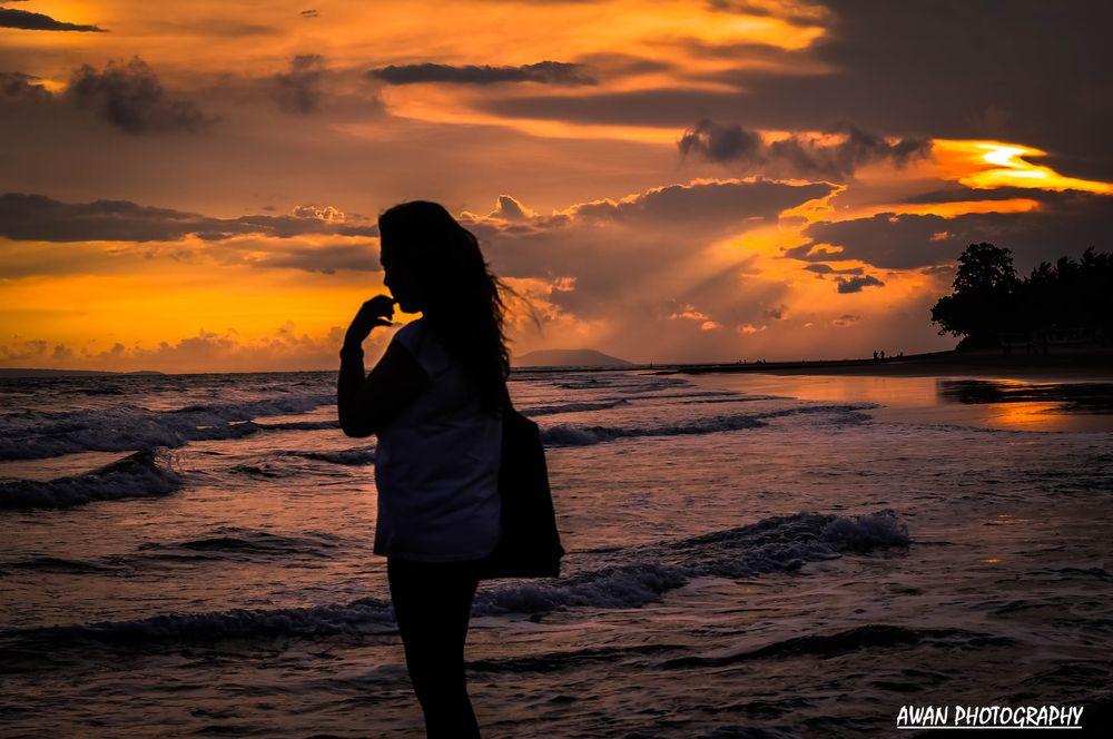 Photo in Random #portrait #sunset #sundown #photography #photo #youpic #seaview #panoramic #model #bali #picture