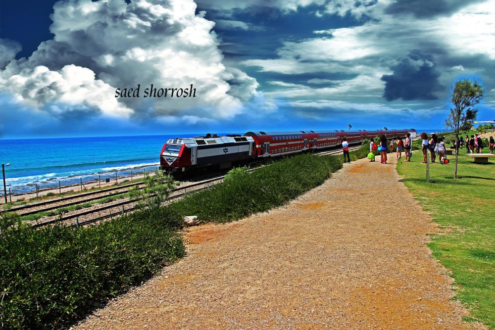 Photo in Landscape #train #haifa #city #]