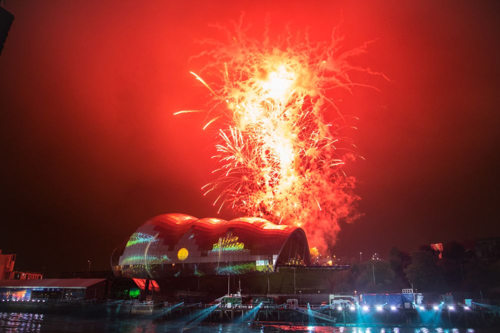 Photo in Cityscape #newcastle #sage #gateshead #fireworks