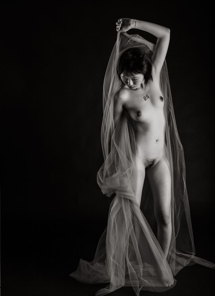 Photo in Black and White #bw #nude #dance #artphoto