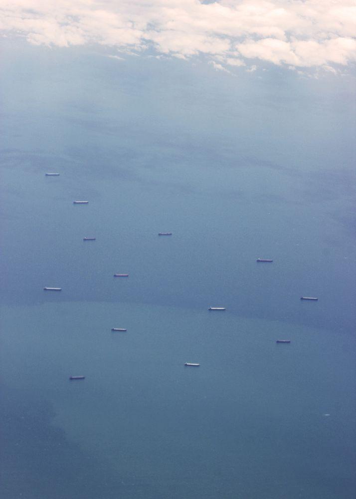 Photo in Aerial #sea #flight #aerial #travel