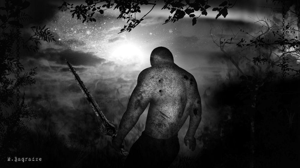 Photo in Abstract #dark #black and white #hero