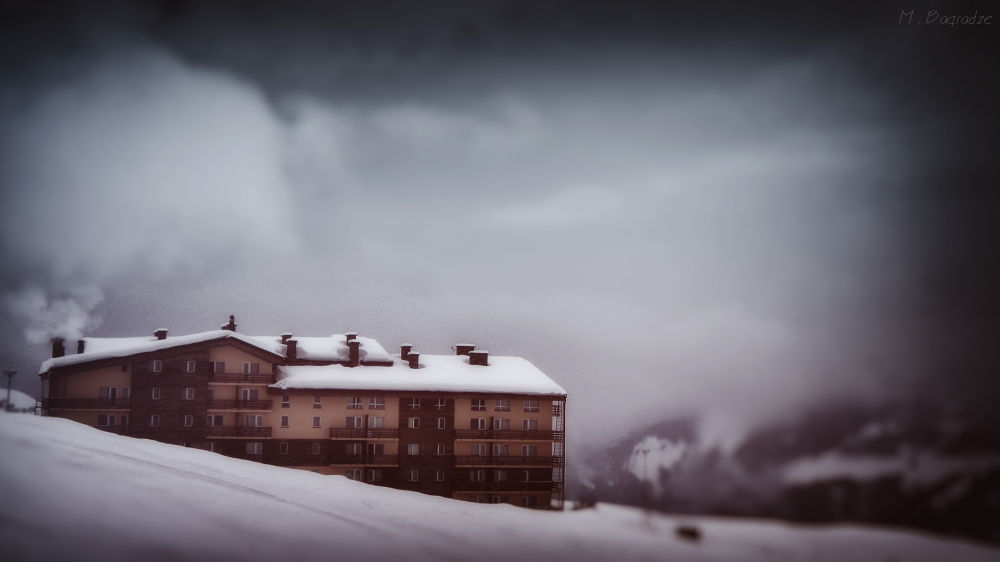 Photo in Travel #snow #winter #house #hotel
