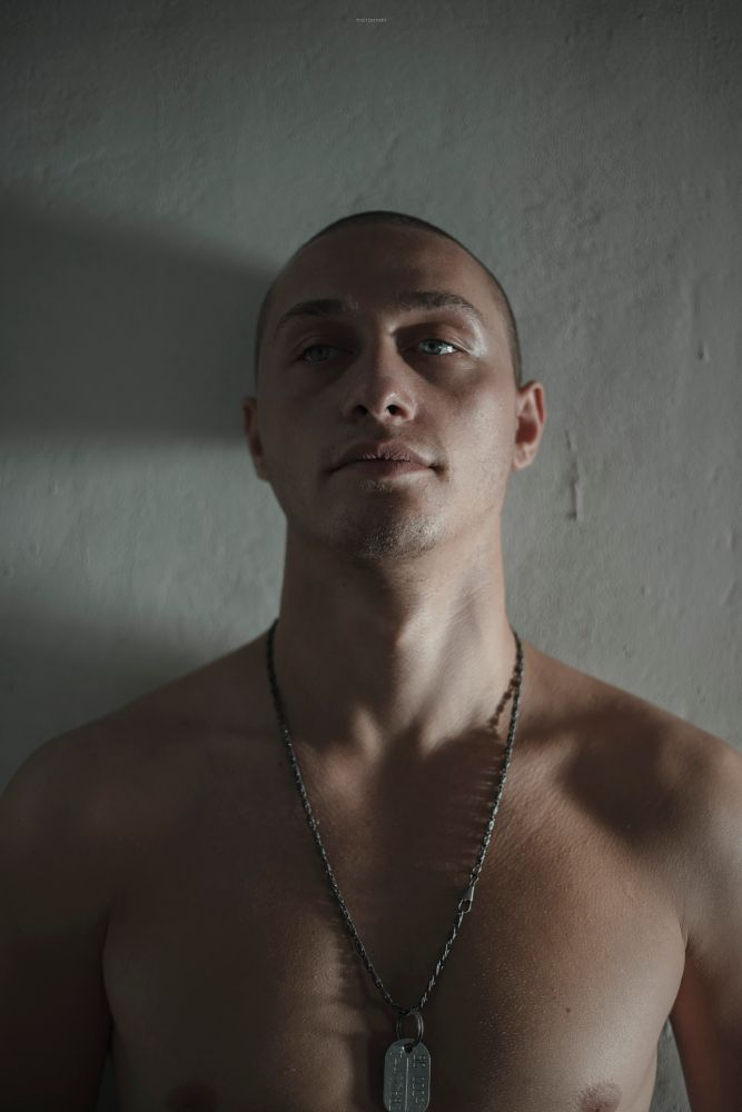 Photo in Portrait #portrait #boy #man #face #army #eye #eyes #blueeyes #georgian #georgia #tbilisi #men #sexy #hot #guy #nude #light #sunset