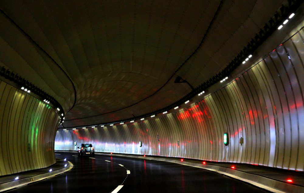 Photo in Street Photography #tunel #colors