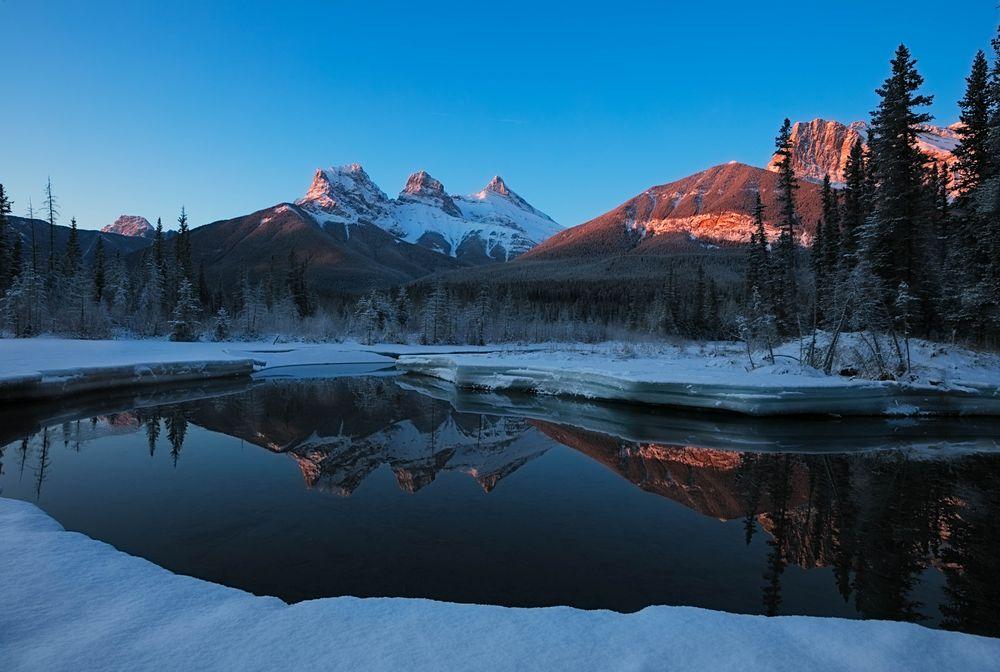 Photo in Landscape #spring #melt #reflection #alpine glow