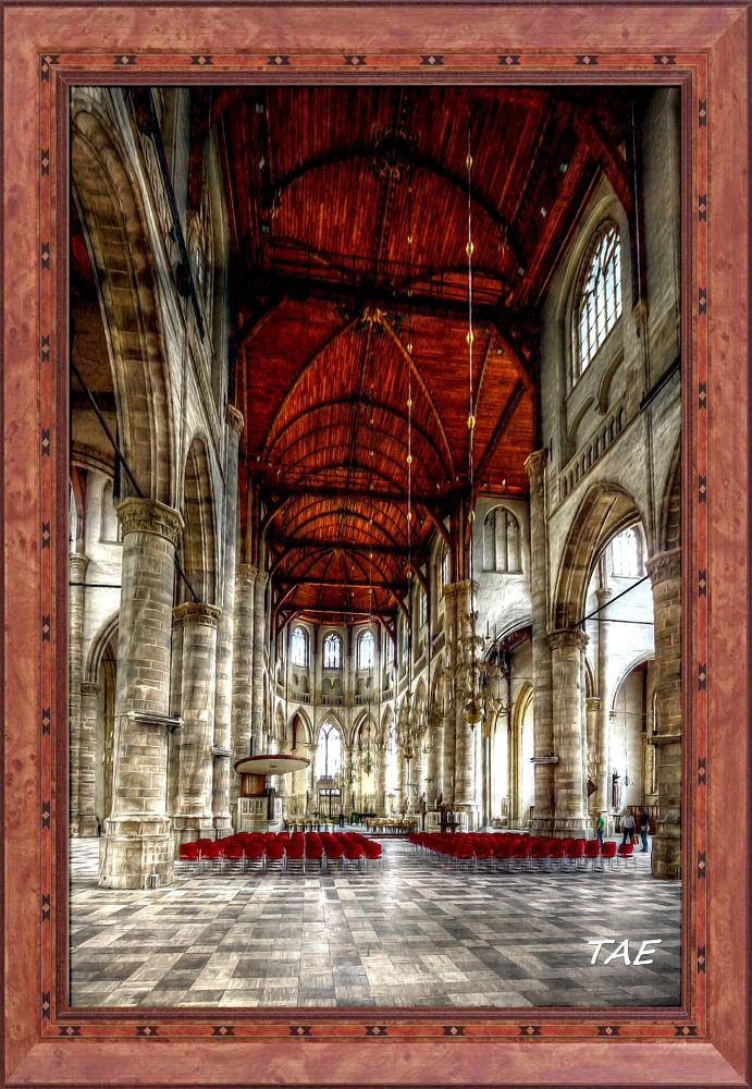 Photo in Interior #art #oil #painting #netherlands #rotterdam #cathedral #interior #fine #canvas