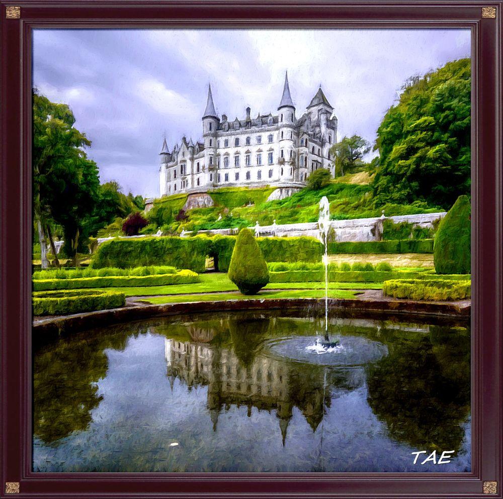 Photo in Random #art #oil #painting #castle #garden #palace #digital #scotland #fine #canvas #dunnottar