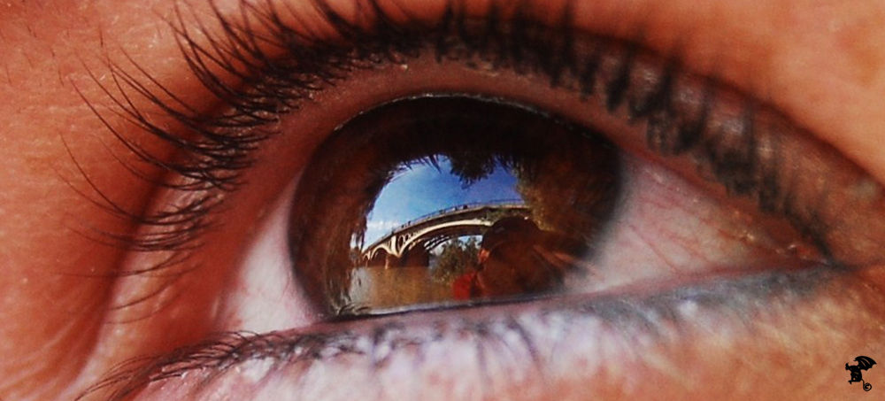 Photo in Random #sevilla #mirada #españa #reflejo #puente #ojo #triana #isabel ii