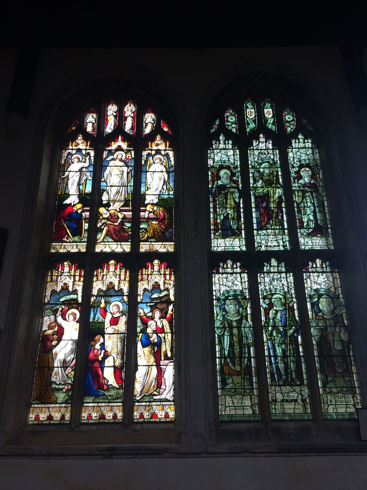 Photo in Random #holy trinity church #long melford #suffolk #stained glass #church