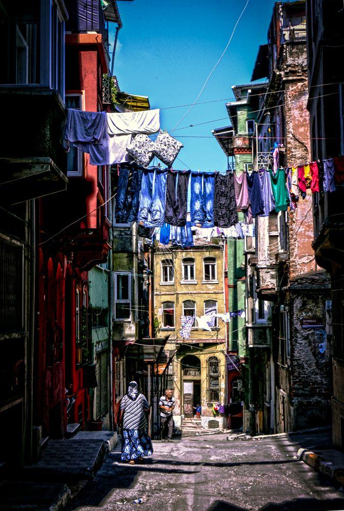 Photo in Street Photography #tarlabaşı #neighbourhood #district #clothes-line #wash