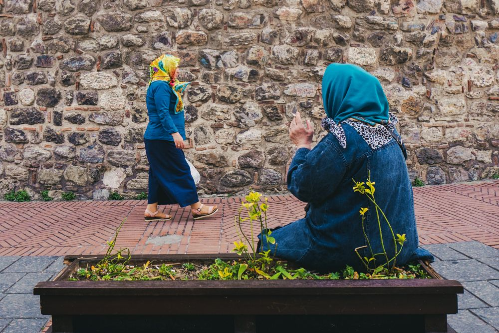 Photo in Street Photography #color #street #people #urban #women #scarf #istanbul #turkey