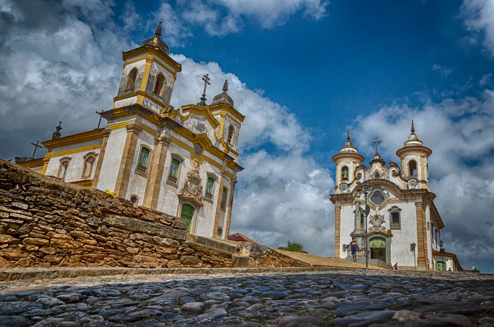 Photo in Architecture #brazil #minas #minas gerais #mariana #church #igreja #hdr #hdri #estrada real #stree