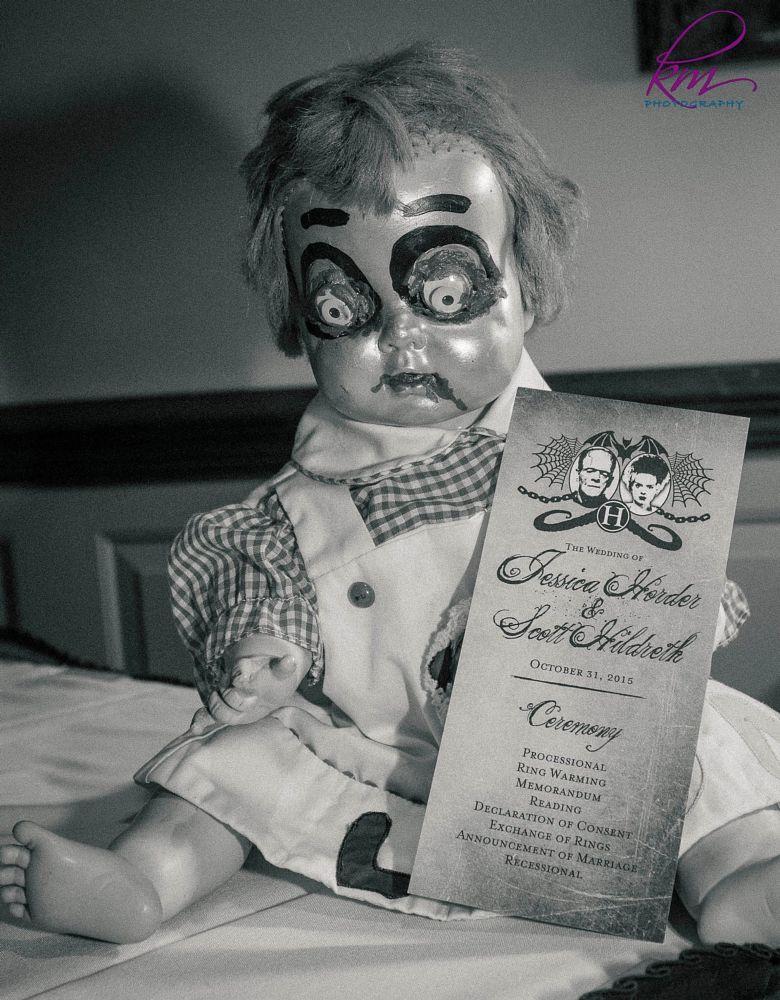 Photo in Black and White #doll #wedding #program