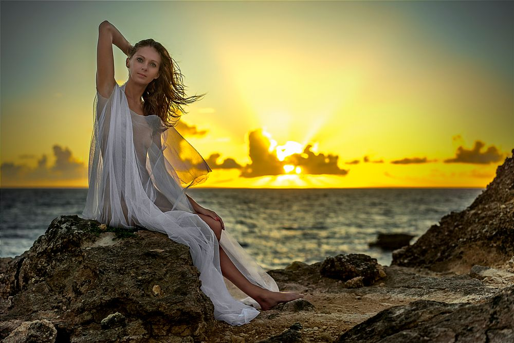 Photo in Fine Art #beauty #beautiful #nude #naked #sunrise #colors #light #summer #caribbean #french #model #nice #cute #pretty #nature #natural #magic #magical #fairy #eyes #transparent #seetrough #white