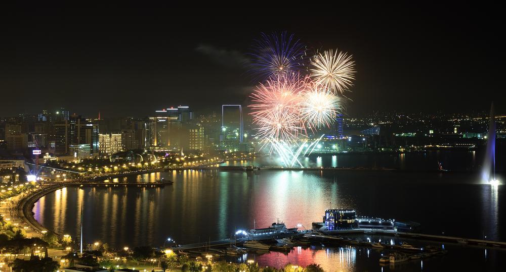 Photo in Cityscape #landscape #cityscape #seascape #firework #night shoot #night #holiday #sea #city #boulevard #fountain