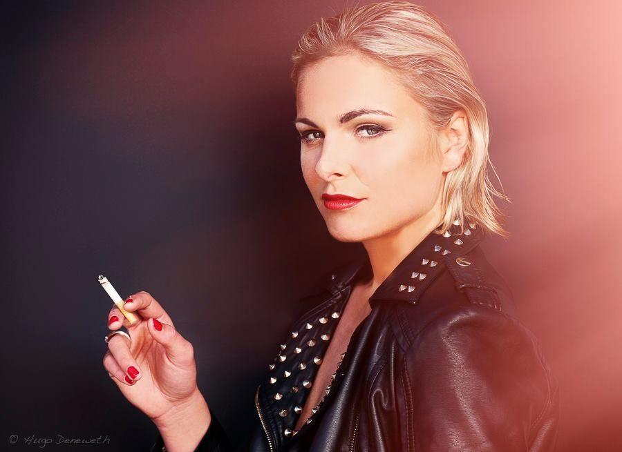 Photo in Portrait #model #make-up #hair #woman #nails #eyes #jacket #colour #portrait