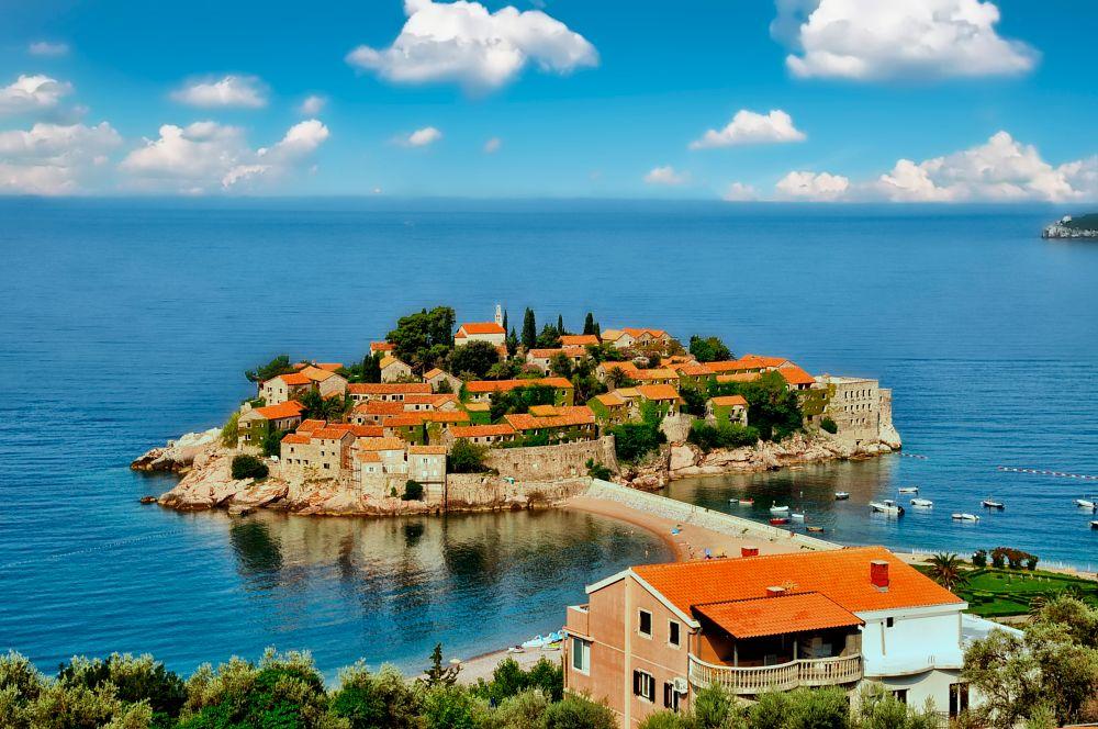 Photo in Landscape #sveti stefan #montenegro #adriatic coast #islet