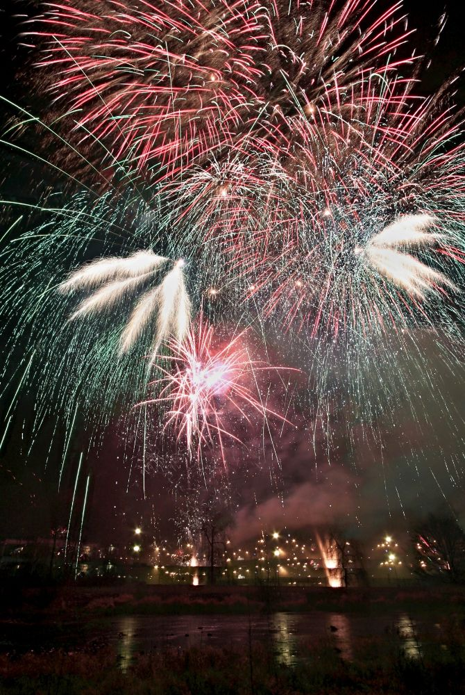 Photo in Landscape #firework #river #new year