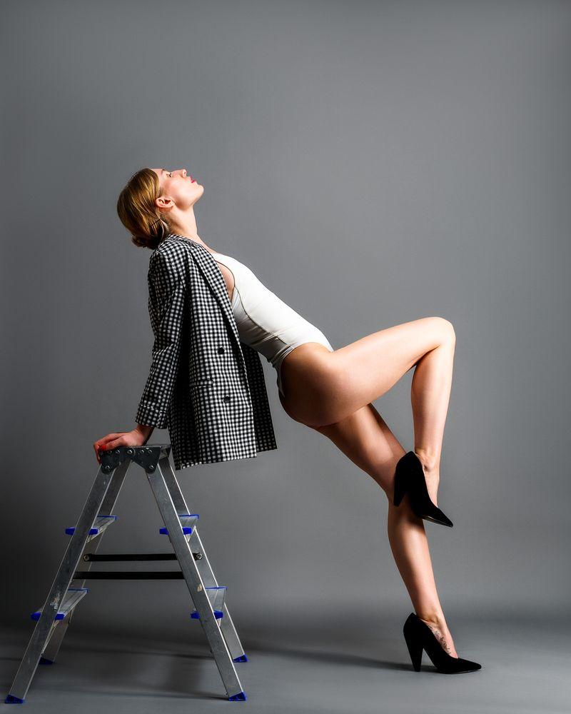Photo in Fashion #fashion #legs #body #high heels #grey background #studio photography #studio
