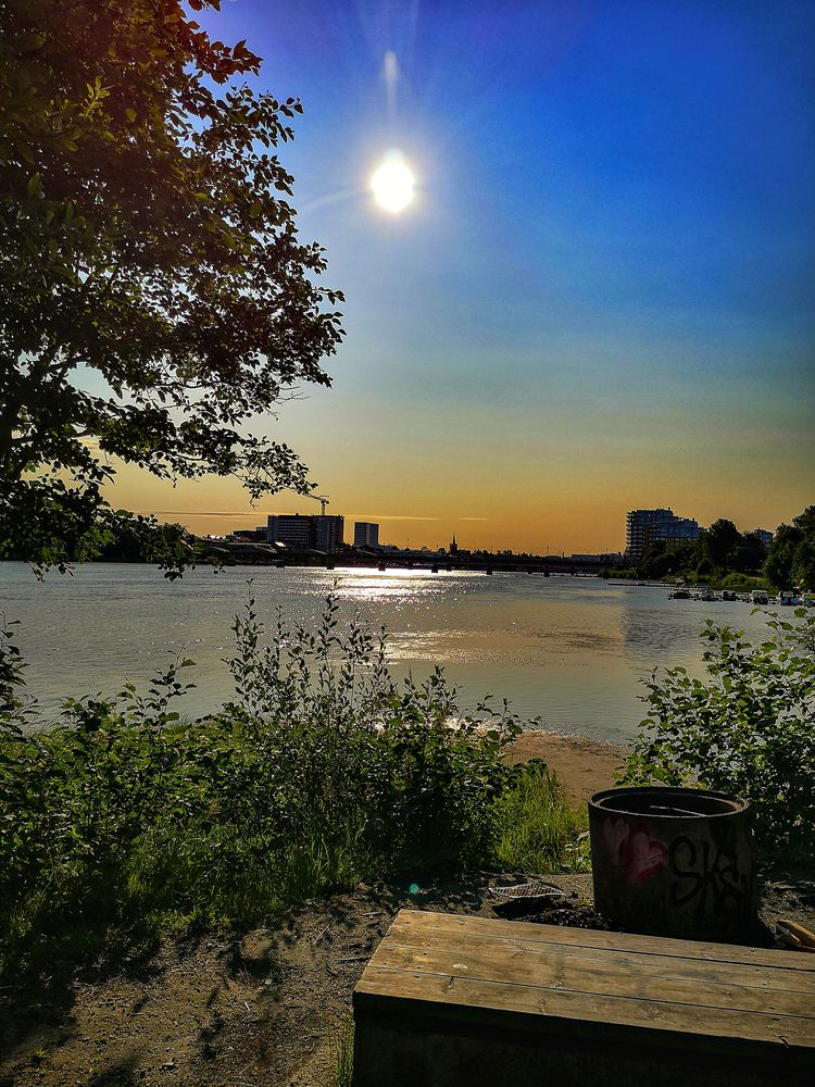 Photo in Landscape #river #sun #sky #trees #landscape