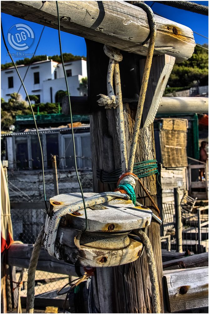 Photo in Fine Art #wooden #pulley #bolts #ropes #laces #ligatures #nail #puglia #gargano #trebuchet #photodgminox #cosimo maietta