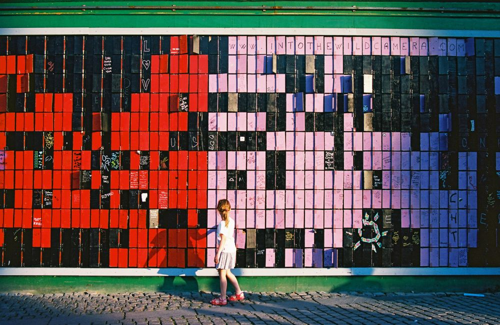 Photo in Street Photography #girl #wall #color