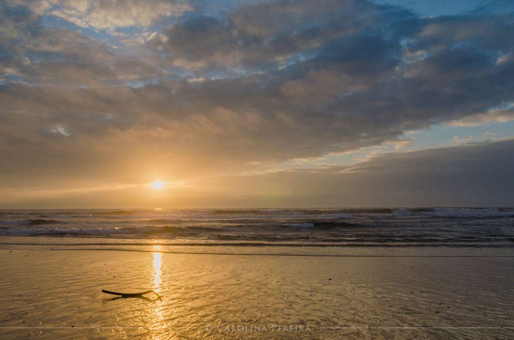Photo in Sea and Sand #sunset #bright #beach #sand #sea #sun #clouds #sky #portugal #torres vedras #praia de santa rita #lisbon #light #nature #reflection #praia #mar #por do sol