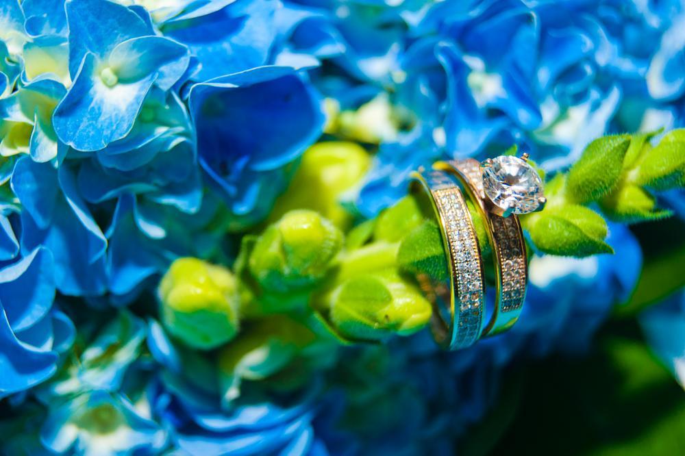 Photo in Wedding #wedding #love #rings #bouquet #blue
