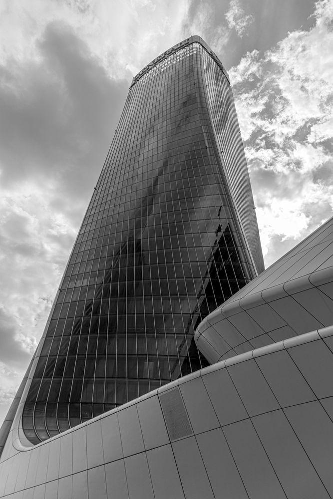 Photo in Black and White #skyscraper #torque #hadid #milan #milano #urban #blackandwhite