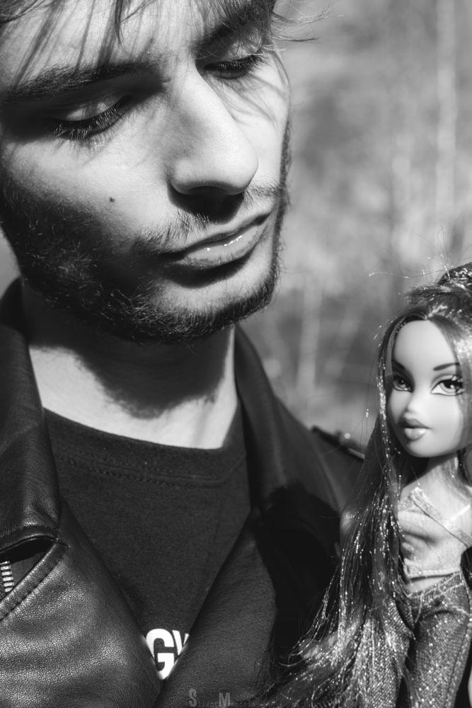 Photo in Portrait #sweden #fashion #black and white #monochrome #bratz doll #bratz #doll #portrait #spring #nature #forest