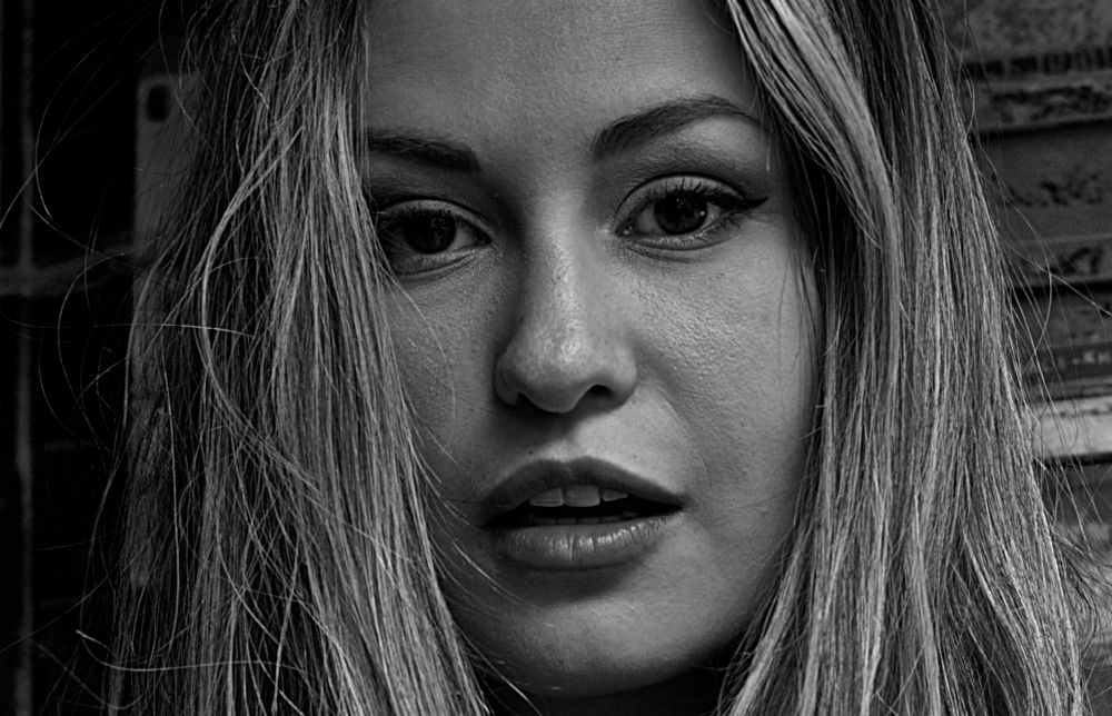 Photo in Portrait #sexy #girl #women #model #pretty #fashion #female #b&w #monochrome #portrait #demi fray
