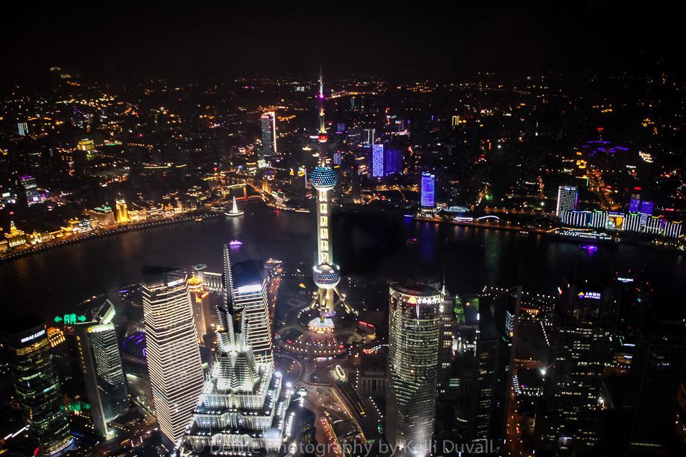 Photo in Cityscape #pearl tower #china #shanghai #city #night #lights #bund