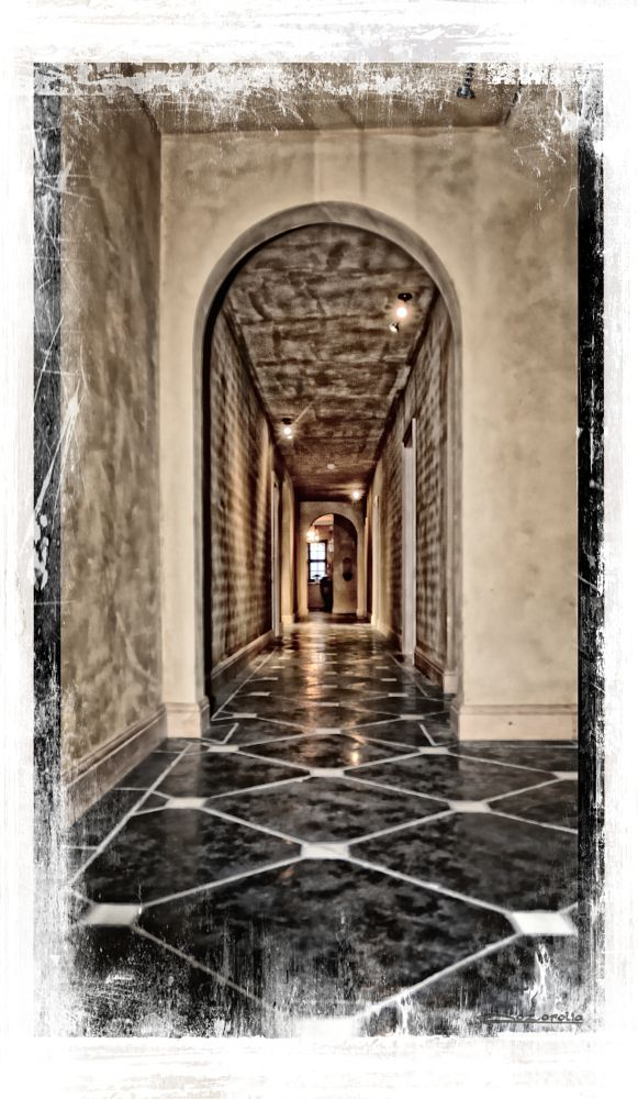 Photo in Architecture #hallway #special paint