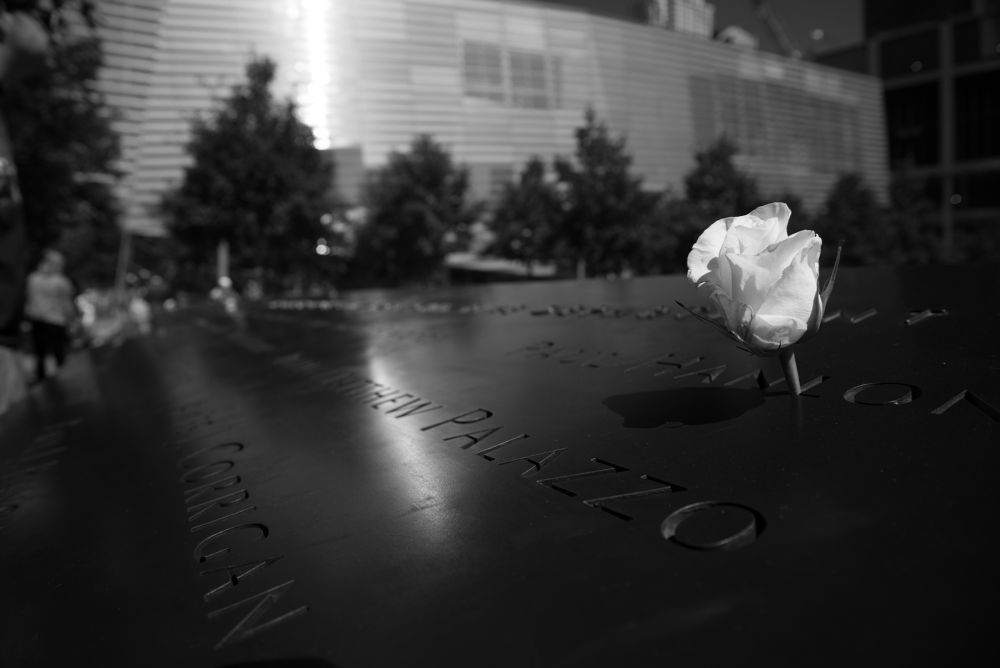 Photo in Black and White #9/11 #ground zero #memorial